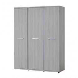 Amoire 3 portes contemporaine coloris chêne clair Karina