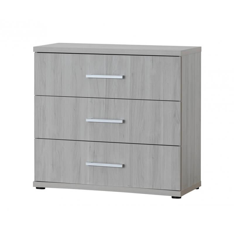 commode contemporaine 3 tiroirs coloris ch ne clair karina matelpro. Black Bedroom Furniture Sets. Home Design Ideas
