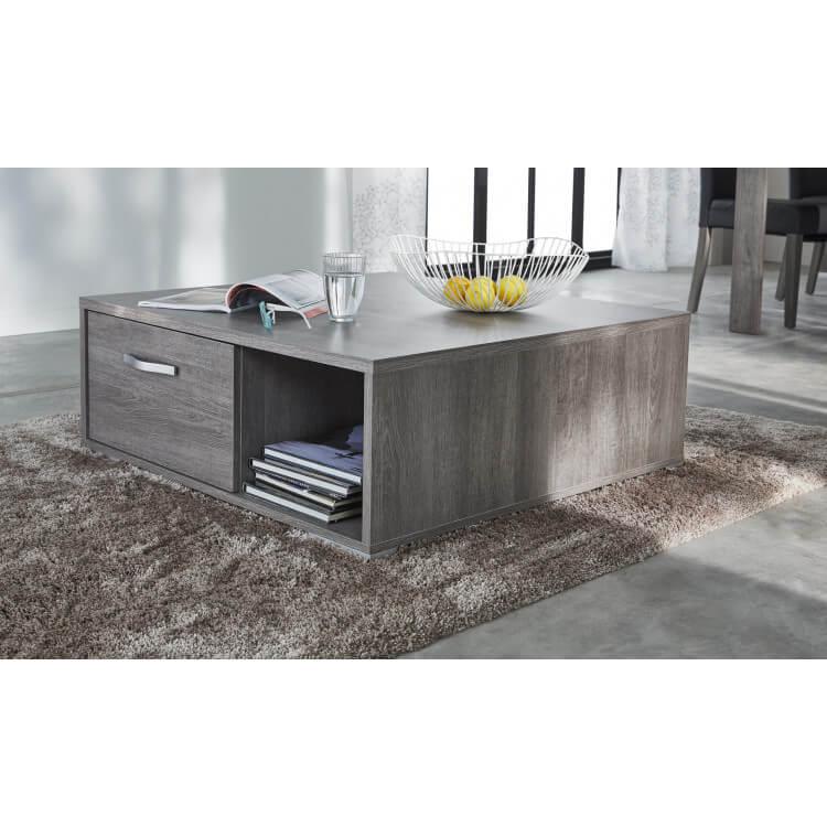 Table basse contemporaine rectangulaire chêne foncé Murano