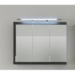Armoire de toilette 3 portes avec éclairage coloris foncé Solcice