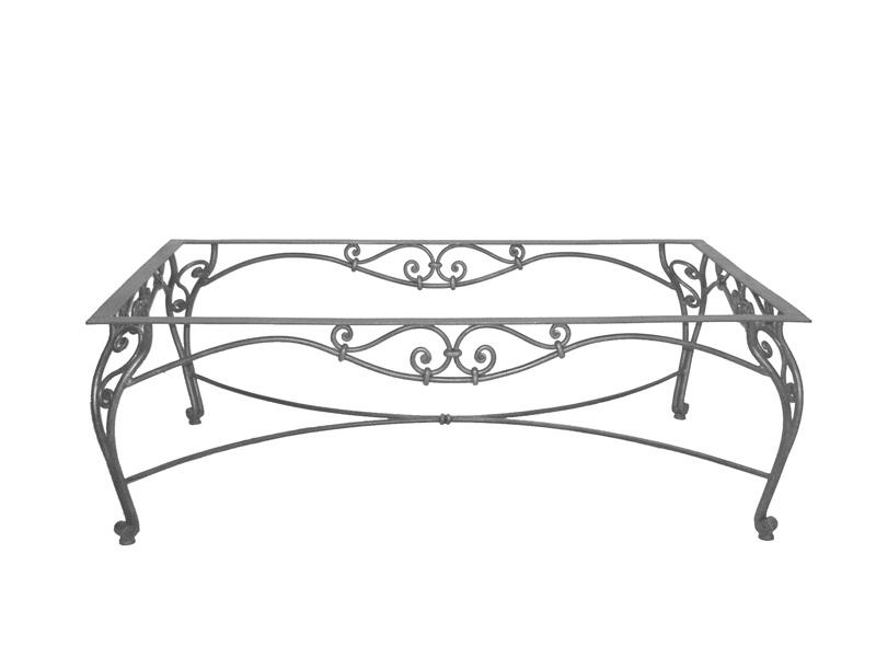 Table basse verre & fer forgé rectangulaire VERONE