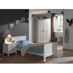 Chambre enfant contemporaine coloris blanc laqué Oceanie II