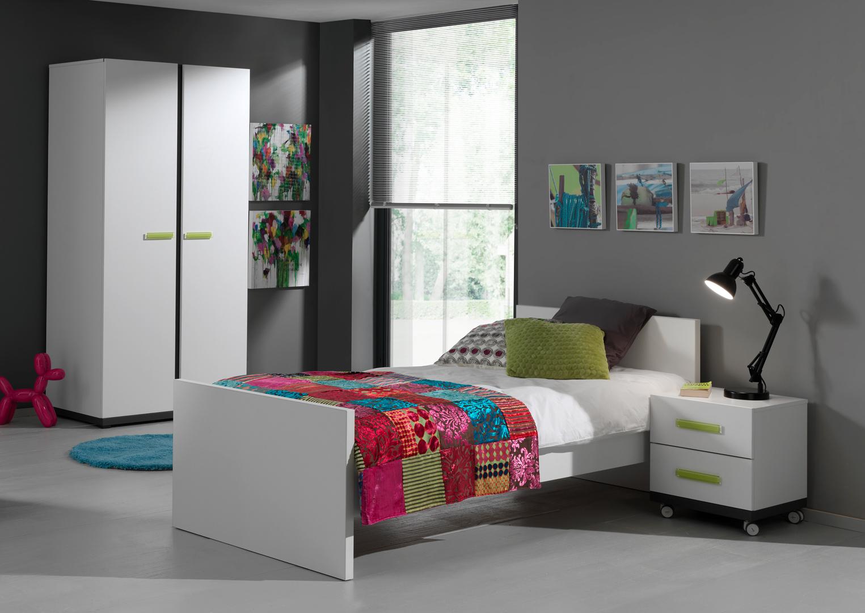 Chambre Gris Anthracite Et Blanc chambre enfant contemporain blanche/gris anthracite roxi