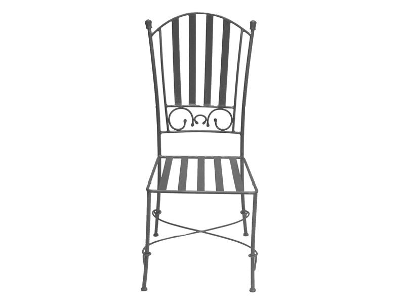 Chaises fer forgé de salle à manger (lot de 2) CLARISSE