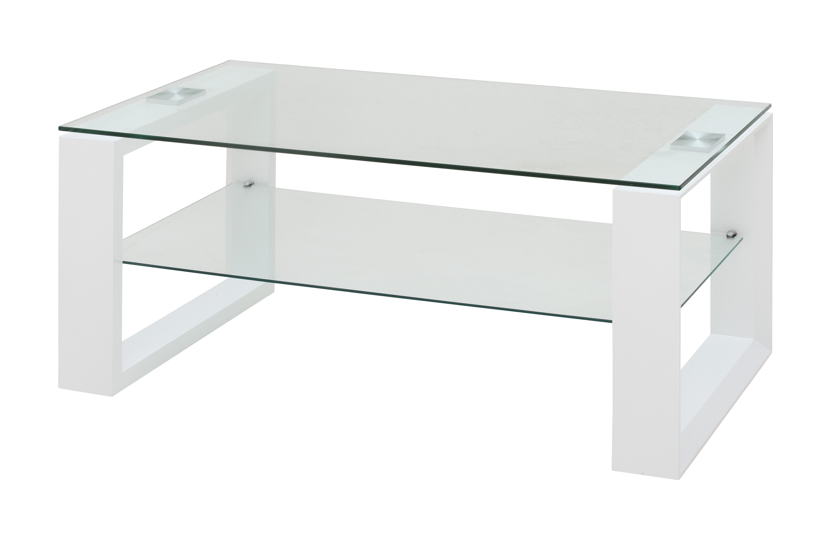 Basse Design Et Verre Bois Blanc Laqué Loudvika Table DHE29IW
