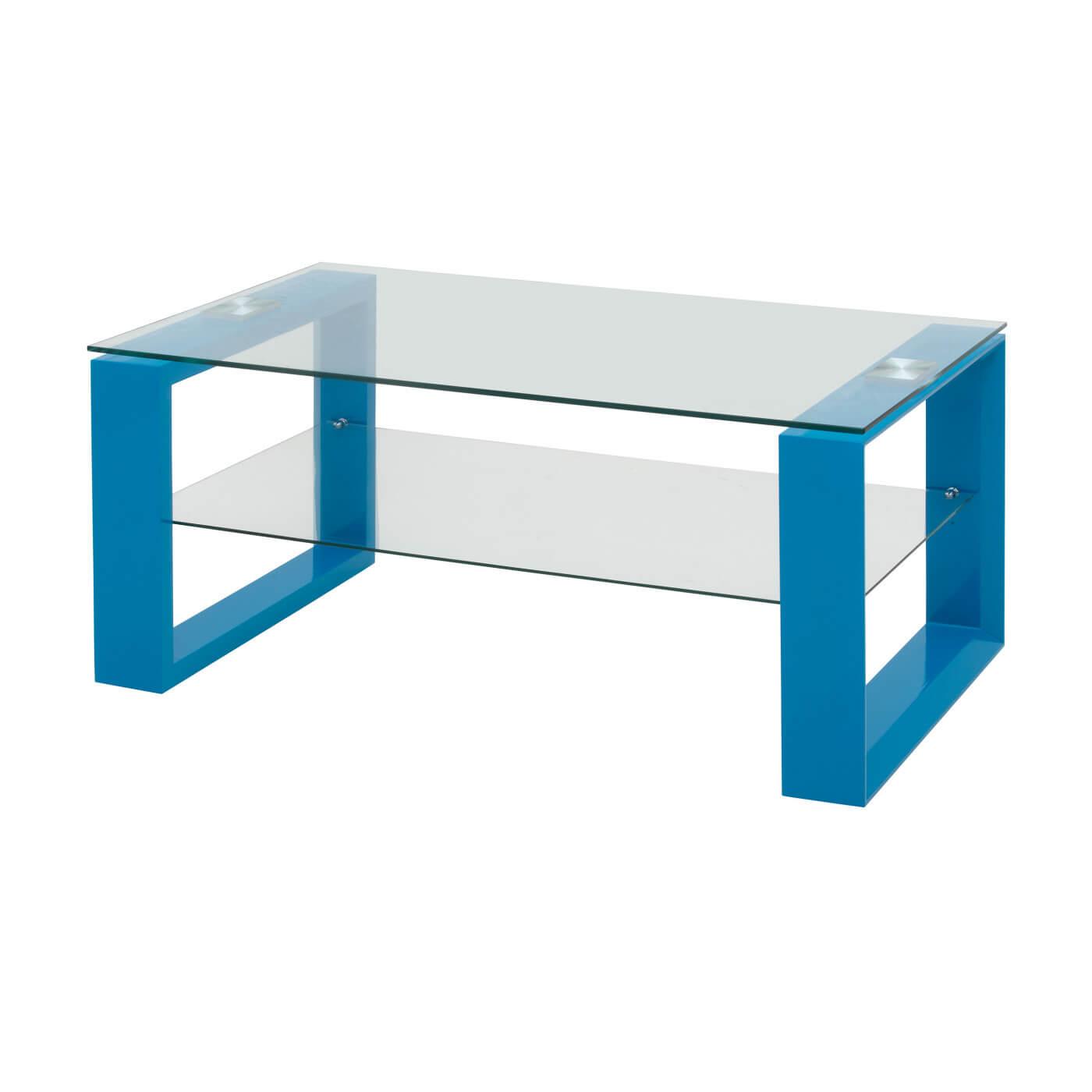 Et Table Loudvika Design Verre Basse Bois Bleu Laqué clFKJT13