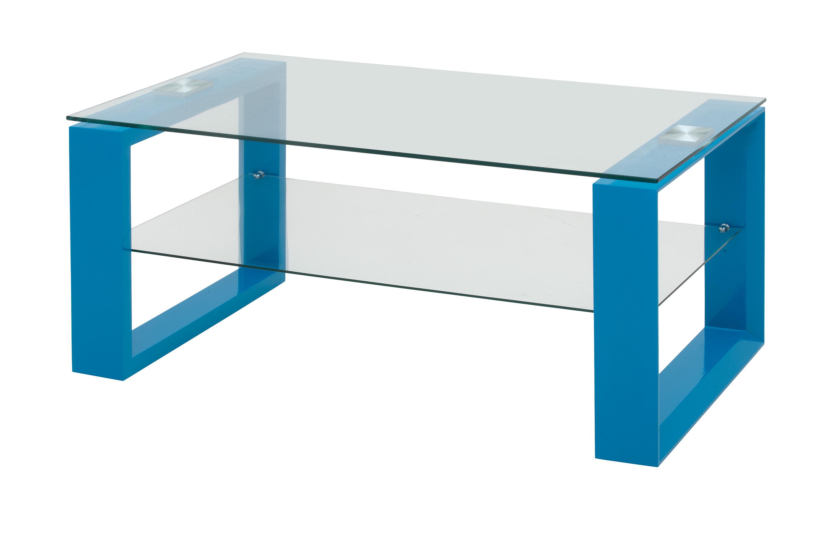 table basse design bois et verre bleu laqu loudvika. Black Bedroom Furniture Sets. Home Design Ideas
