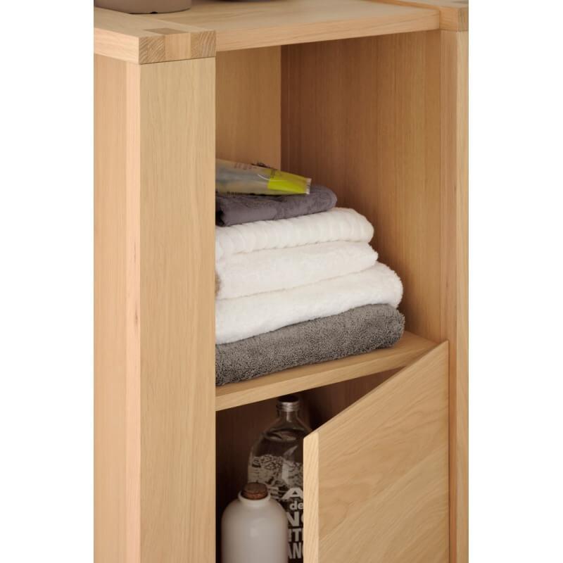 meuble bas de salle de bain contemporain ch ne nature yelda matelpro. Black Bedroom Furniture Sets. Home Design Ideas