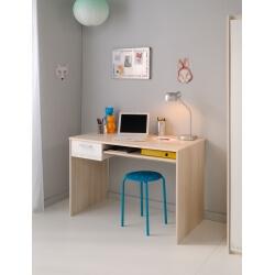 Bureau enfant contemporain acacia/blanc Comix
