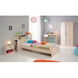 Chambre enfant contemporaine acacia/blanc Comix II