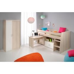 Chambre enfant contemporaine acacia/blanc Comix IV