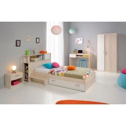 Chambre enfant contemporaine acacia/blanc Comix III