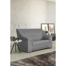 Canapé 2 places contemporain en tissu gris Guelma