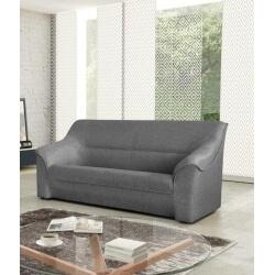 Canapé 3 places contemporain en tissu gris Guelma