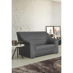 Canapé 2 places contemporain en tissu anthracite Guelma