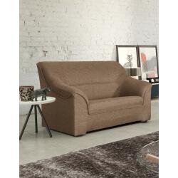 Canapé 2 places contemporain en tissu brun Guelma