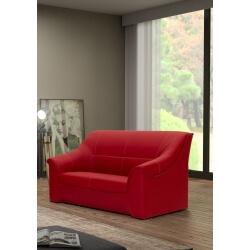 Canapé 2 places contemporain en PU rouge Guelma