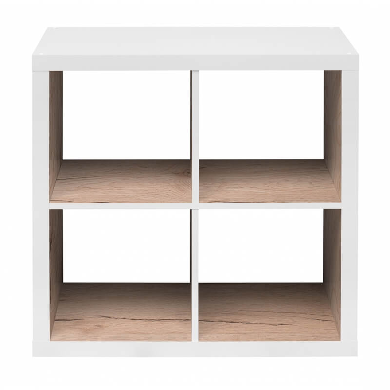 etag re contemporaine carr e blanche ch ne clair 4 compartiments zita. Black Bedroom Furniture Sets. Home Design Ideas