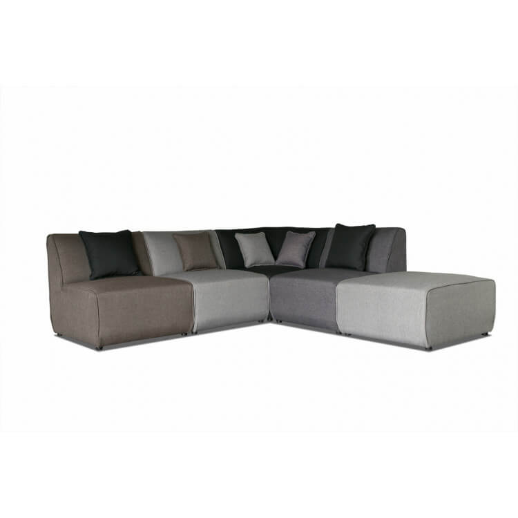canap dangle modulable contemporain en tissu multi gris oracio - Canape Contemporain Tissu