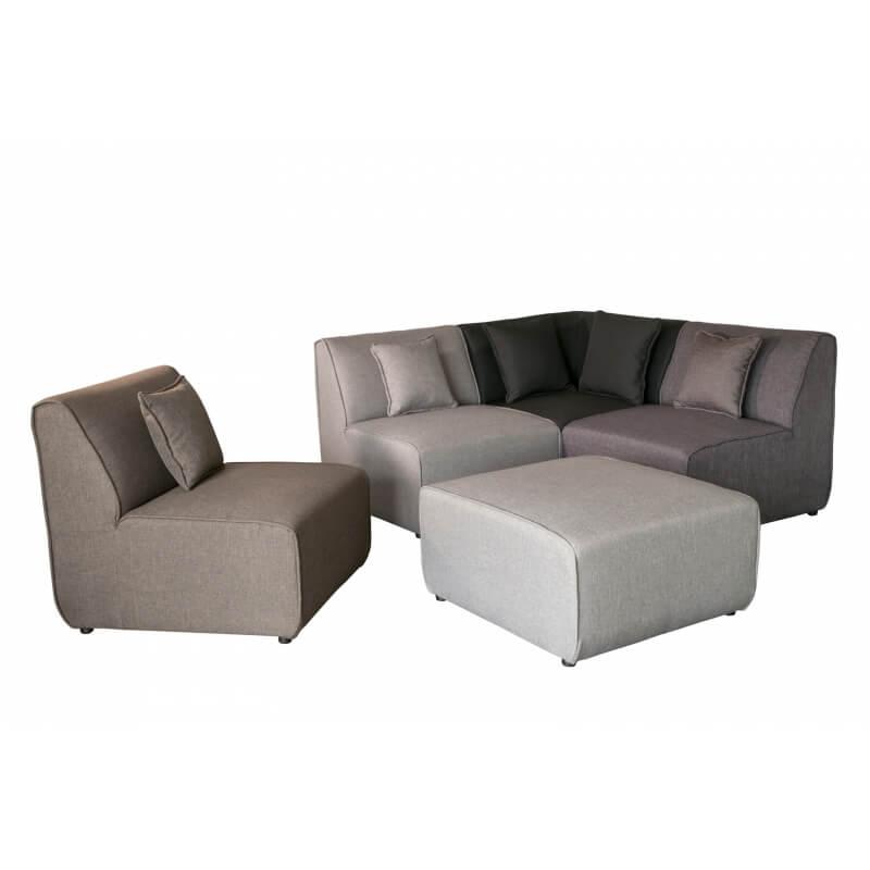 canap d 39 angle modulable contemporain en tissu multi gris. Black Bedroom Furniture Sets. Home Design Ideas