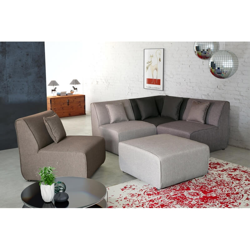 canap d 39 angle modulable contemporain en tissu multi gris oracio matelpro. Black Bedroom Furniture Sets. Home Design Ideas