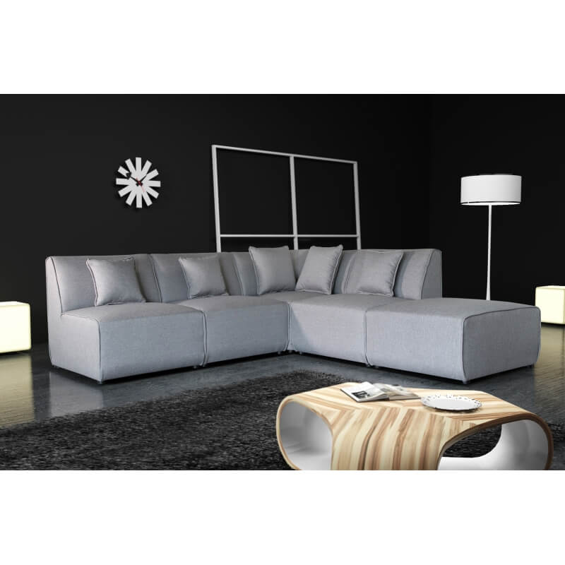 canap d 39 angle modulable contemporain en tissu gris oracio. Black Bedroom Furniture Sets. Home Design Ideas