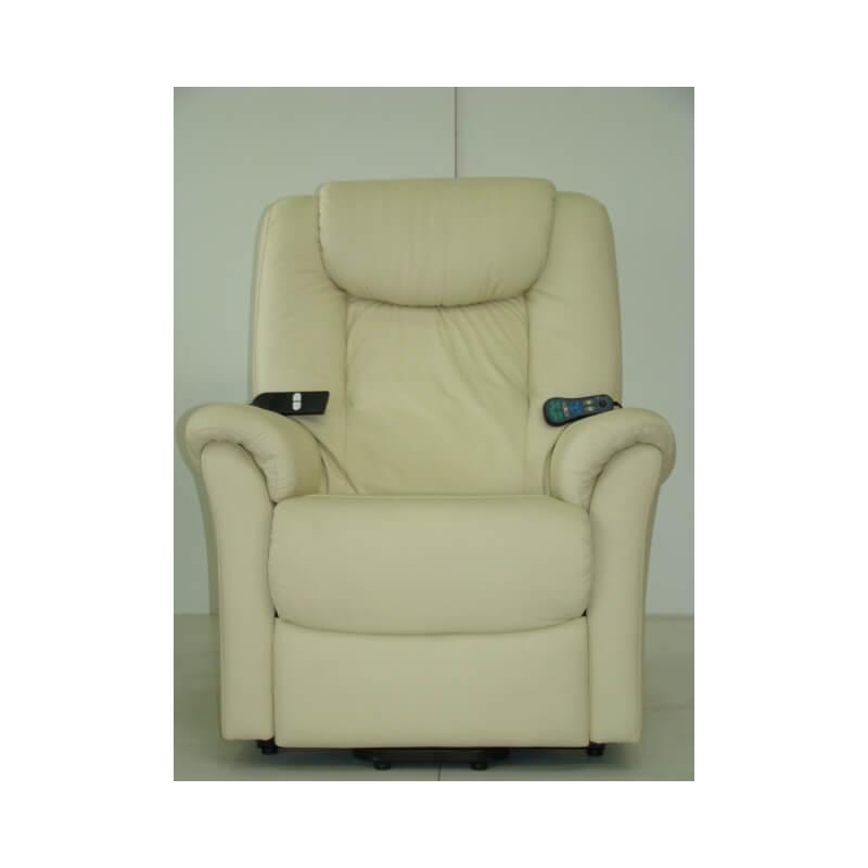 fauteuil de relaxation 100 cuir lectrique massant releveur avec repose pieds int gr davinci. Black Bedroom Furniture Sets. Home Design Ideas