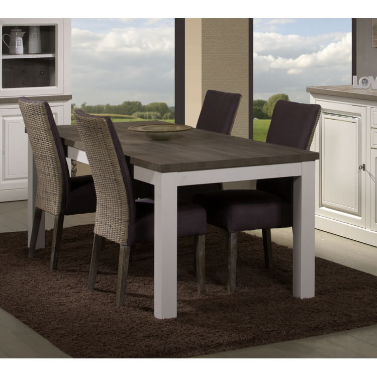 Table de salle manger contemporaine rectangulaire truffe porcelaine ouragan - Table de salle a manger contemporaine ...