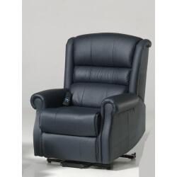 Fauteuil de relaxation 100 % cuir électrique releveur avec repose-pieds intégré HAVANE