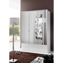 Armoire contemporaine 3 portes coloris blanc Adagio