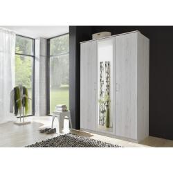 Armoire contemporaine 3 portes chêne blanc Laos