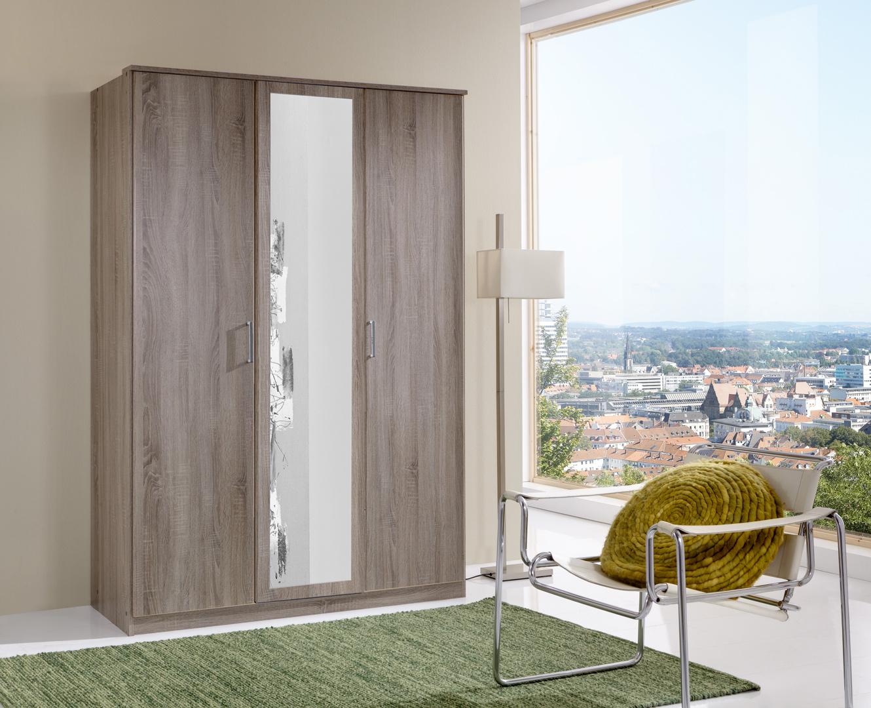 Armoire contemporaine 3 portes chêne montana Ribeira