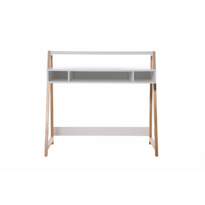 bureau design laqu blanc illary matelpro. Black Bedroom Furniture Sets. Home Design Ideas