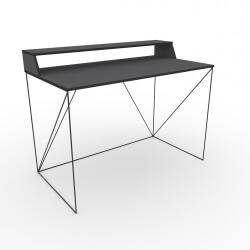 Bureau design bois et métal coloris gris/noir Mareva