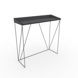 Console design bois et métal coloris gris/noir Mareva