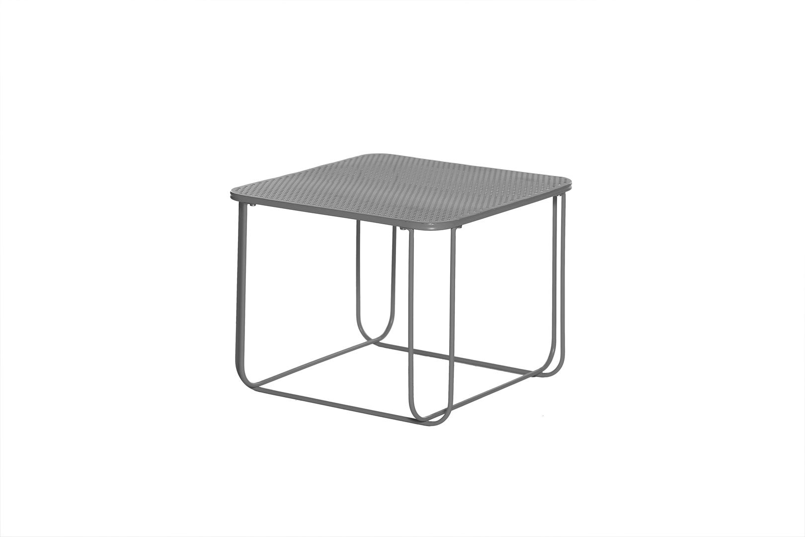 Table basse carrée design en métal anthracite Focus