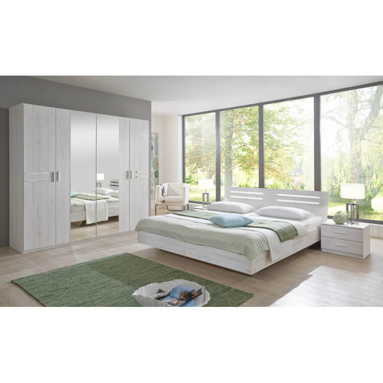 Chambre adulte contemporaine chêne blanc Estonia