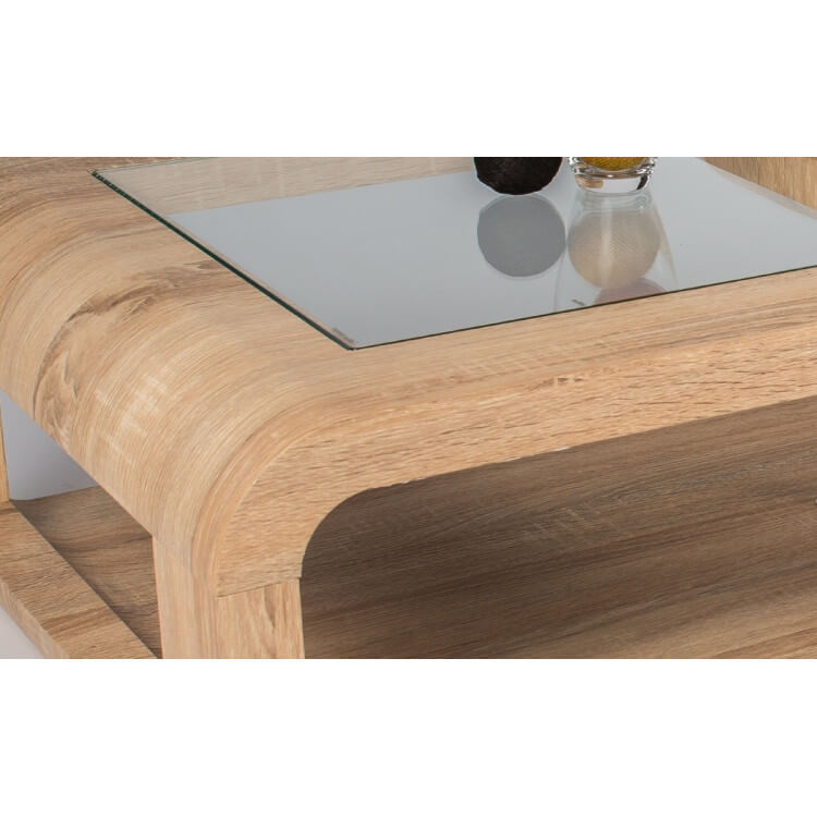 table basse design en bois ch ne clair sonoma eliane. Black Bedroom Furniture Sets. Home Design Ideas