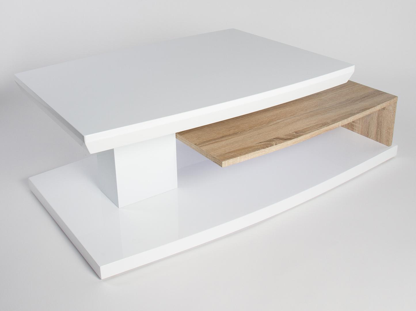 Table En Bois Chene Clair design bois laquéchêne basse table clair en blanc sulina