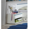 Chevet enfant contemporain 1 tiroir blanc alpin/bleu denim Mandy