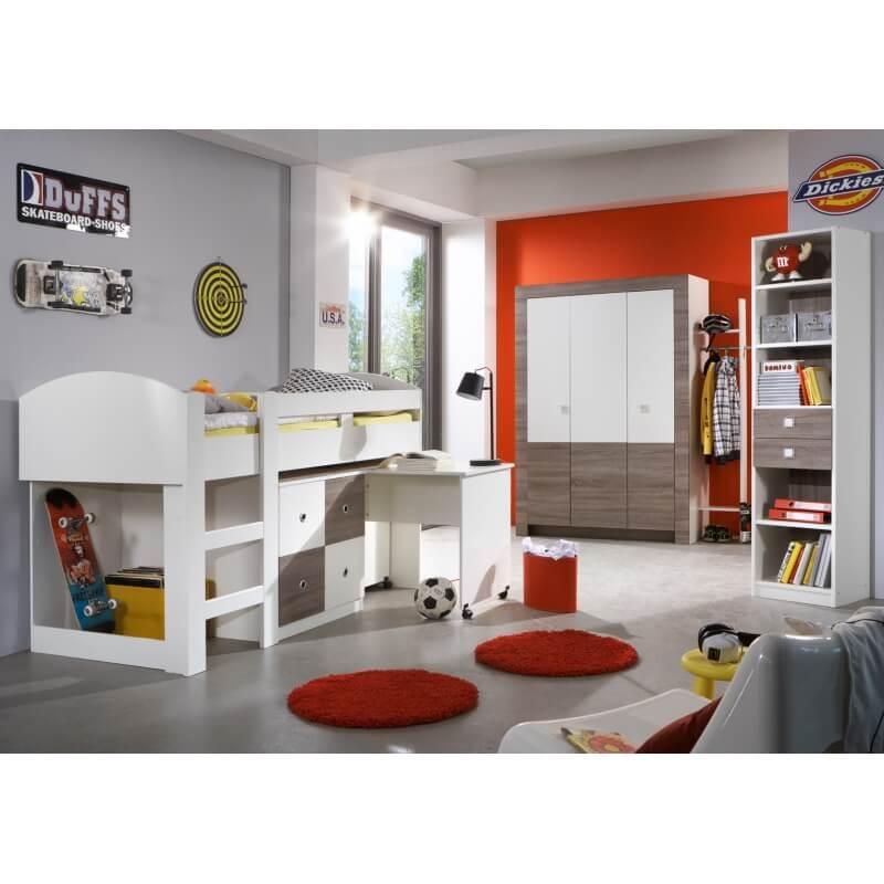 biblioth que contemporaine ch ne montana blanc kyriane. Black Bedroom Furniture Sets. Home Design Ideas