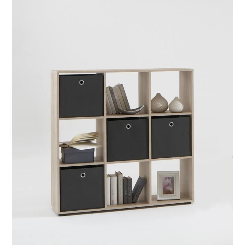 etag re de s paration contemporaine 9 casiers coloris ch ne elba matelpro. Black Bedroom Furniture Sets. Home Design Ideas