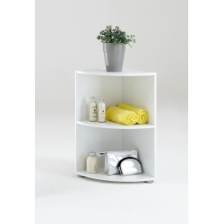 Etagère d'angle contemporaine 2 casiers coloris blanc Nickie