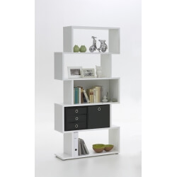 Etagère design 5 compartiments coloris blanc Albi