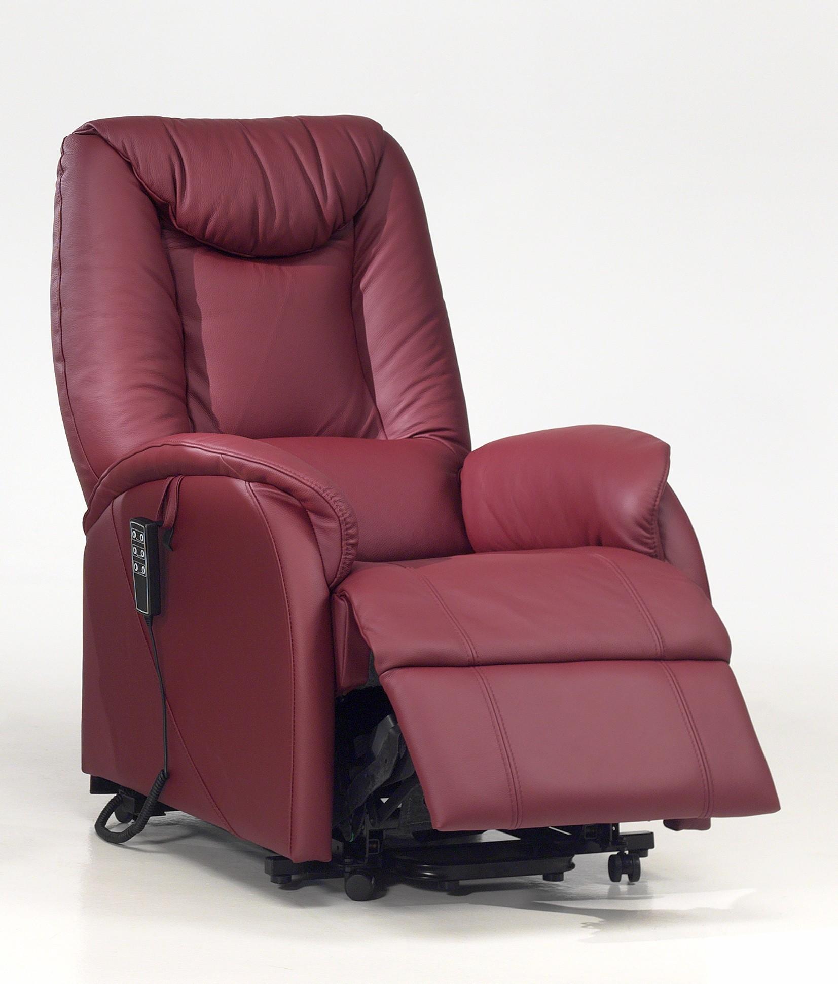 Fauteuil de relaxation 100 % cuir électrique releveur avec repose-pieds intégré BORNEO