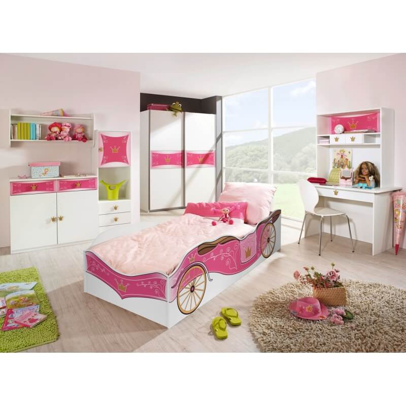 chambre enfant contemporaine blanche et rose rosemarie ii. Black Bedroom Furniture Sets. Home Design Ideas