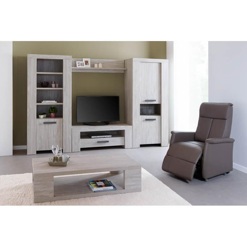 meuble tv contemporain ch ne clair livaro matelpro. Black Bedroom Furniture Sets. Home Design Ideas