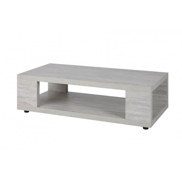 Table basse contemporaine rectangulaire chêne clair Livaro | Matelpro