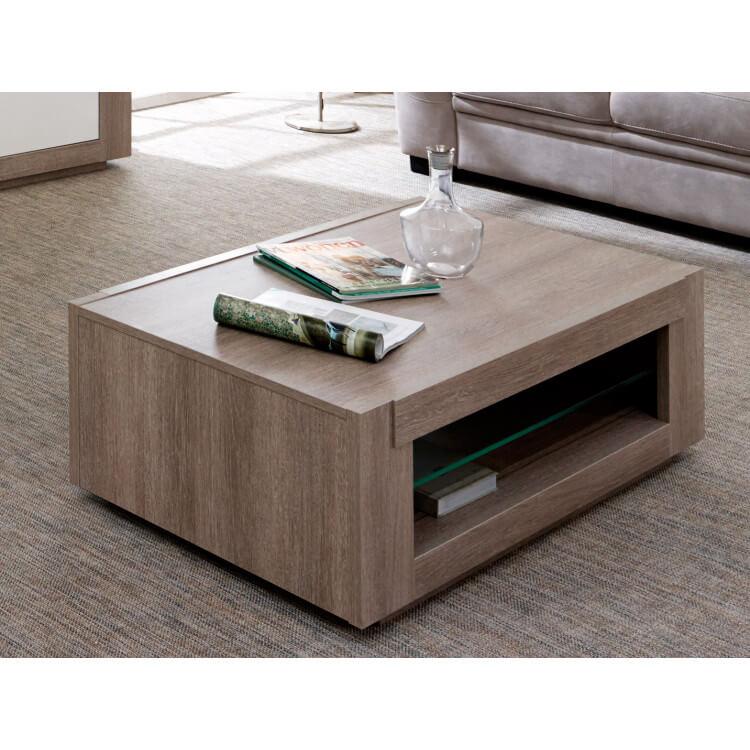 Table Basse Contemporaine Rectangulaire Chêne Gris Jenawel Matelpro