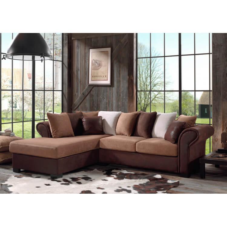 canap d 39 angle fixe contemporain en tissu brun sally matelpro. Black Bedroom Furniture Sets. Home Design Ideas